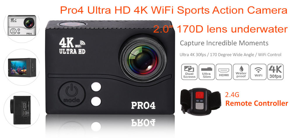 Pro4r Action Camera.