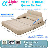 NEW Alpha Velvet Flocked Air Bed